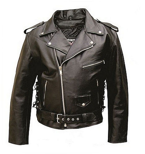mens leather split cowhide jacket