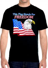 mens patriotic this flag stands for freedom biker t-shirt