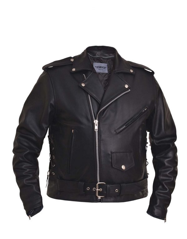 mens buffalo leather motorcycle jacket