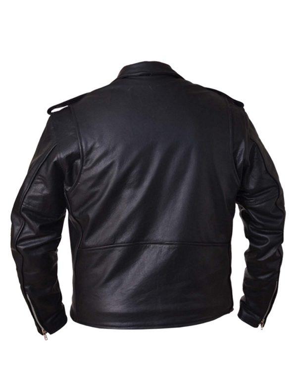 mens buffalo leather motorcycle jacket