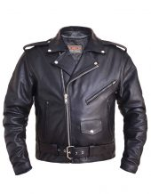 mens tall premium leather motorcycle jacket
