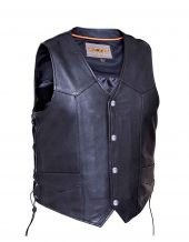 mens naked cowhide leather vest