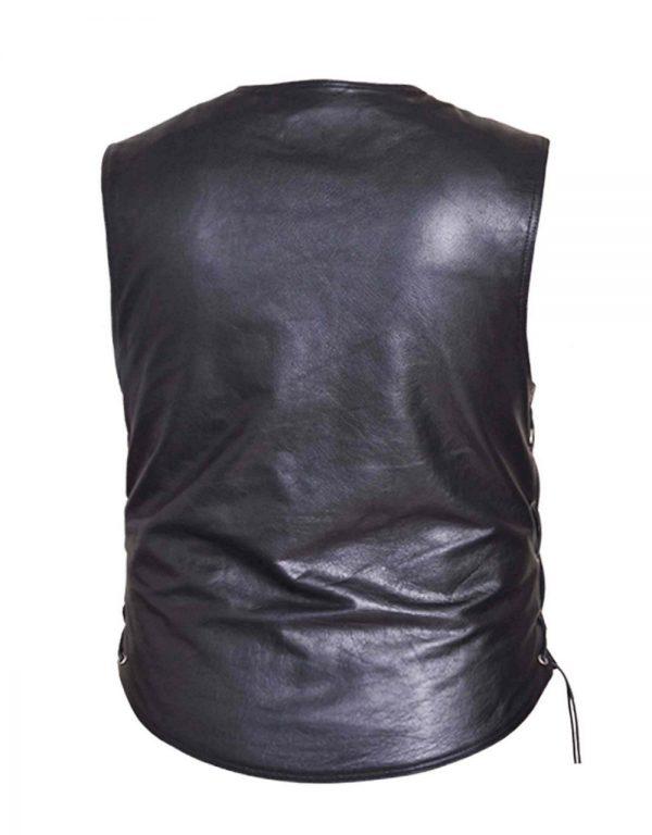 mens premium cowhide leather vest