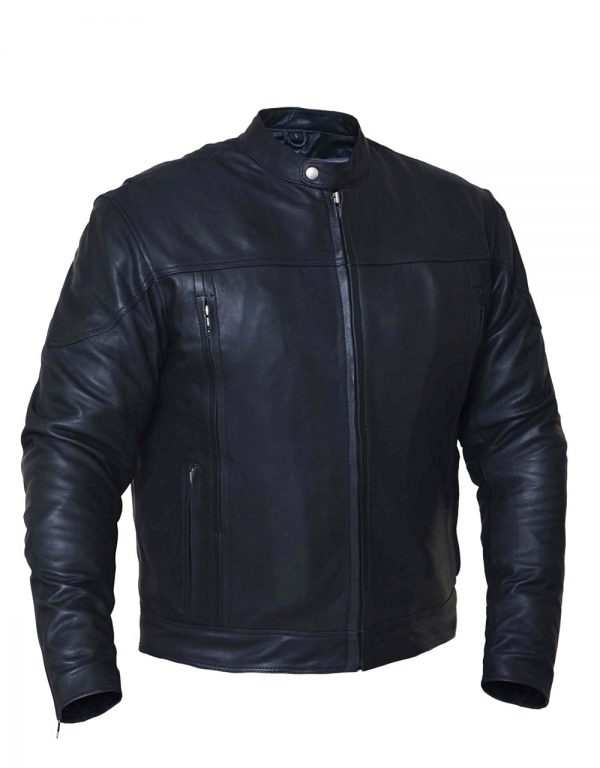 mens naked goat leather motorcycle jacket