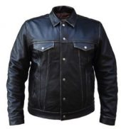 mens cowhide leather shirt