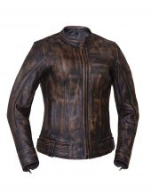 ladies brown leather naked cowhide jacket