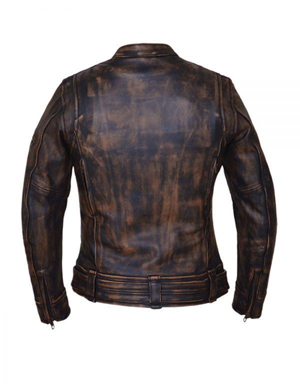 ladies brown leather naked cowhide jacket
