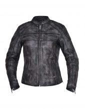ladies Amarillo grey premium leather jacket