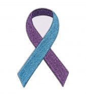 blue and purple suicide awareness ribbon