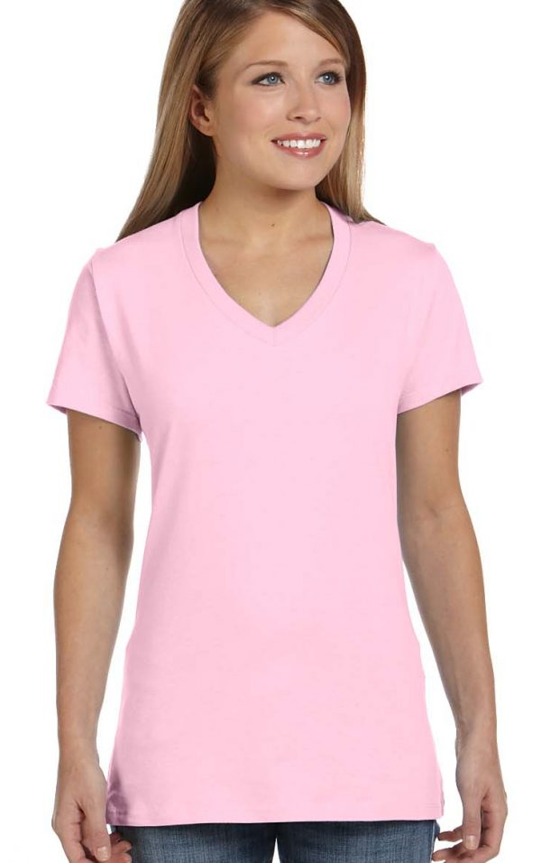 ladies plain v-neck t-shirt