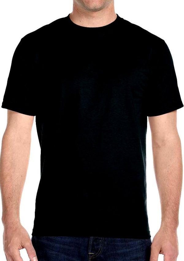 mens plain front black t-shirt
