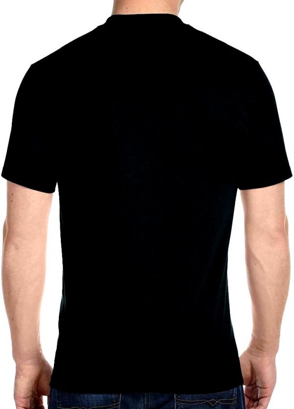 mens plain black t-shirt back