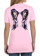 ladies purple and pink butterfly wings t-shirt