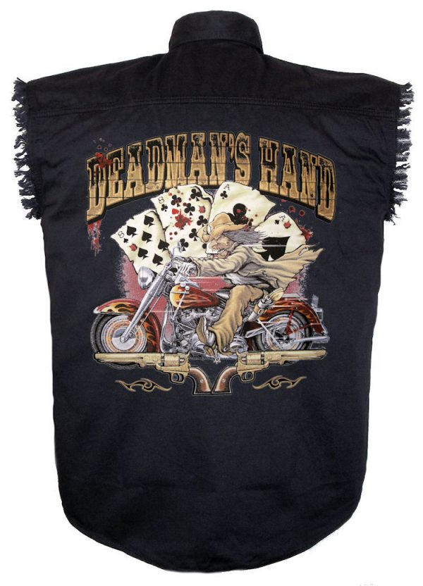 dead mans hand aces and eights biker shirt