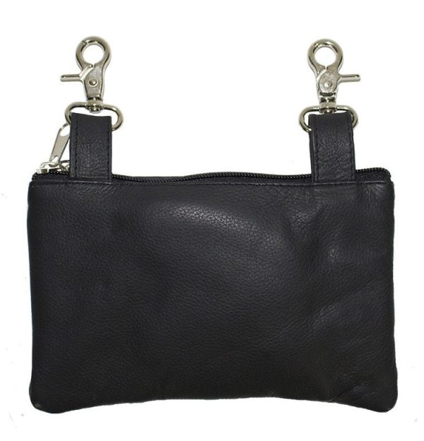 ladies leather bag back