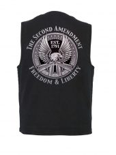 2nd amendment eagle design on denim vest