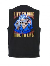 live to ride designer biker vest