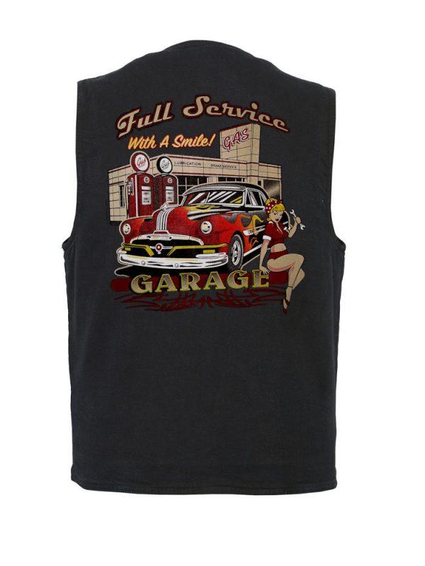 full service garage designer biker vest