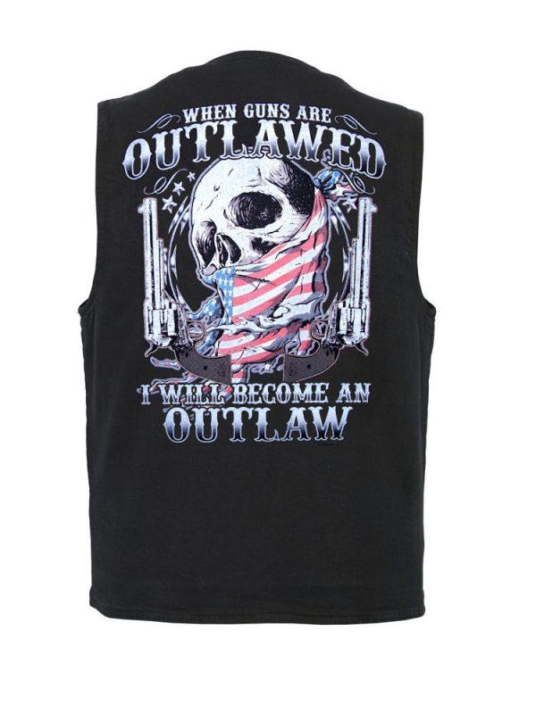 mens outlawed designer denim vest
