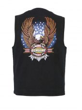 mens american genuine bald eagle designer vest