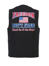 mens freedom isn't free designer vest