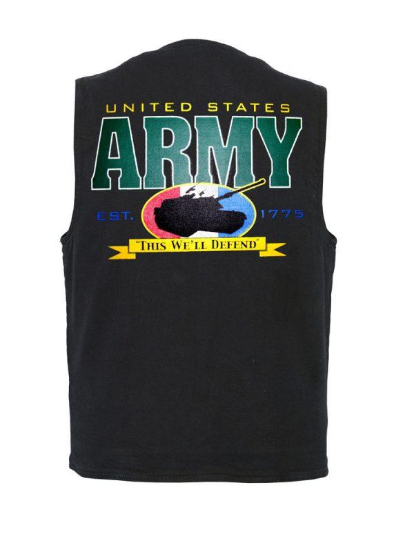 mens army tank designer vest