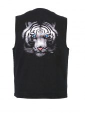 blue eyed tiger designed vest