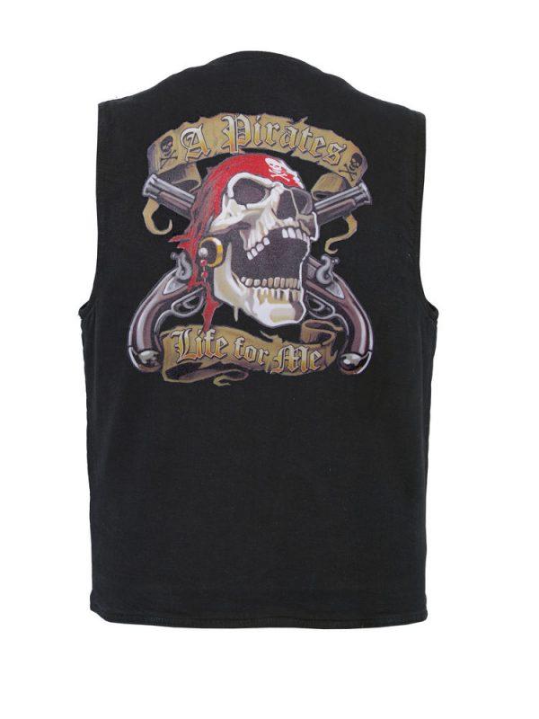 mens pirates life designer vest