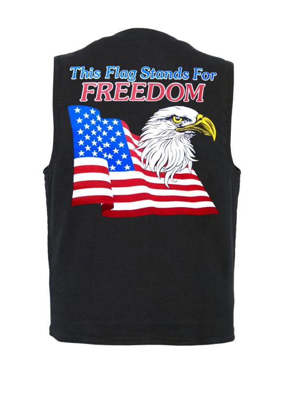mens freedom flag designer vest