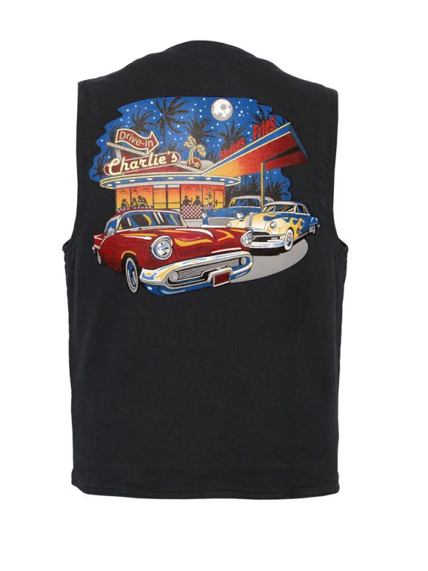 mens charlies drive in designer vest