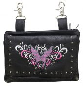 ladies butterfly leather purse