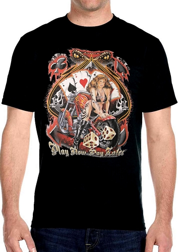 men's snake eyes biker t-shirt