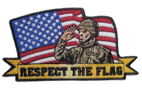 respect the flag patriotic flag patch