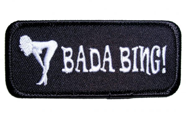 bada bing sexy girl biker patch