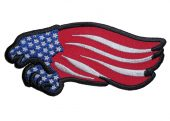 american eagle american flag biker patch