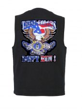 mens denim vest with these colors don't run air force patch