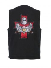 Denim vest with Templar Knight patch