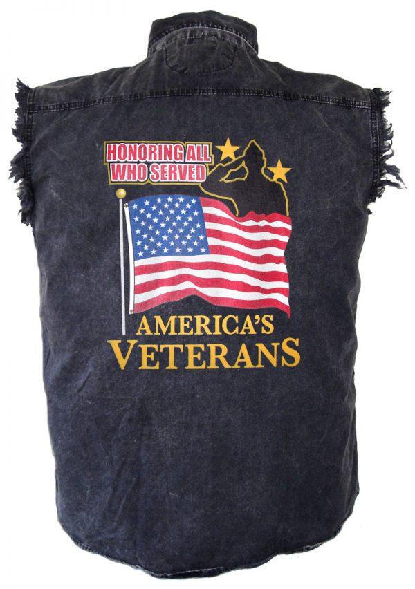 mens denim shirt honoring those who served design