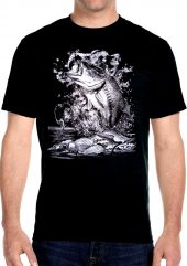 mens fishing biker t-shirt