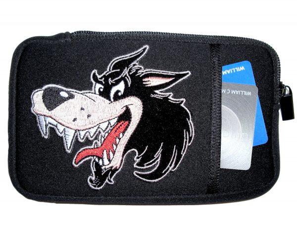 Men's cel phone case with wolf design