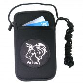 ladies cell phone case with Aries patch