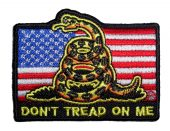 patriotic Gadsden snake don't tread on me biker patch