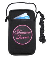 women cell phone case with drama queen design