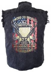 mens constitution denim biker shirt