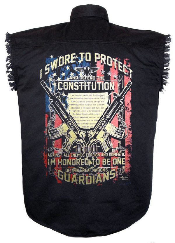 mens black twill constitution denim shirt