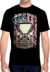 mens patriotic constitution biker t-shirt