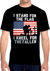 mens fallen flag biker t-shirt