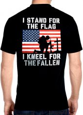 mens fallen soldier biker t-shirt back