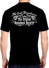 mens 2nd amendment homeland security biker t-shirt