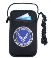 ladies cellphone holder with proud air force daughter design